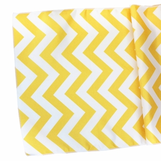 Chevron Table Runner Buttercup Yellow