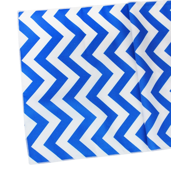 Chevron Table Runner Cobalt Blue