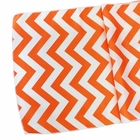 CLEARANCE Chevron Table Runner Mango Orange