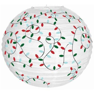 Christmas Cheer Holiday Lights 12inch Paper Lantern