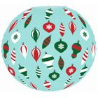 Christmas Cheer Vintage Ornaments Light Blue 12inch Paper Lantern