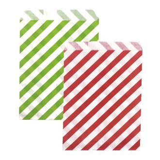 Christmas Paper Treat Bags 48pcs Candy Cane Collection