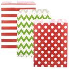 Christmas Paper Treat Bags 72pcs Jingle Bell Collection