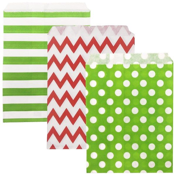 Christmas Paper Treat Bags 72pcs Jolly Collection