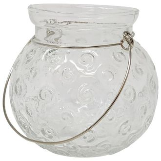 Clear Dottie Hanging Jar