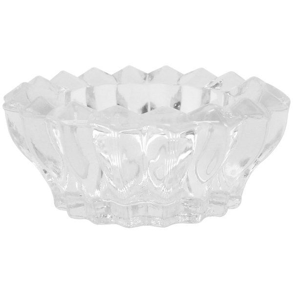 """Clear Glass Blossom Shape Tealight Candle Holder 3"""" Diameter"""