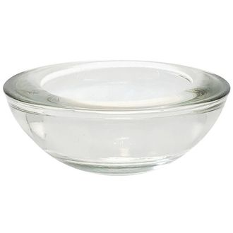 "Clear Glass Tealight Candle Holder 3""Diameter"