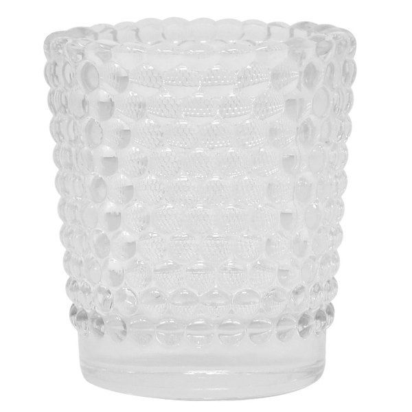 Clear Hobnail Glass Votive Candle Holder 2.5""