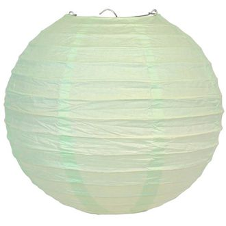 CLEARANCE 10in Tea Green Paper Lantern