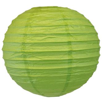 """CLEARANCE 14"""" Palm Green Chinese Japanese Paper Lantern"""