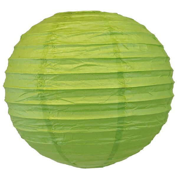 "CLEARANCE 14"" Palm Green Chinese Japanese Paper Lantern"