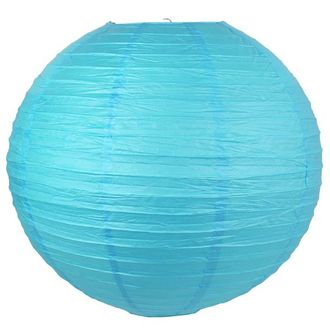 CLEARANCE 22inch Pool Blue Paper Lantern