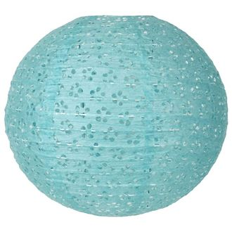 CLEARANCE 8in Light Blue round Eyelet Paper Lantern