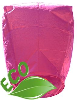 CLEARANCE Eco Wire-Free Eclipse Pink Sky Lantern