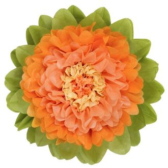 CLEARANCE Tissue Paper Flower 15in Apricot Peach