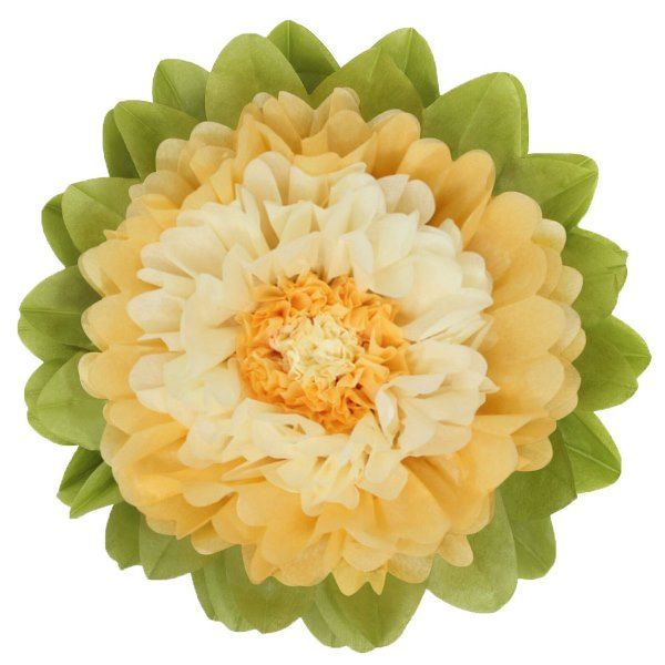 CLEARANCE Tissue Paper Flower 15in Cream Ivory