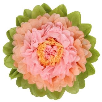 CLEARANCE Tissue Paper Flower 15in Peach Rose
