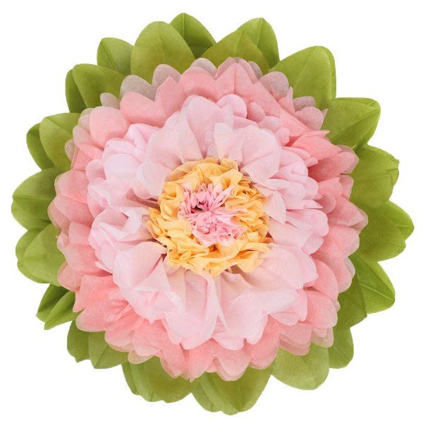 CLEARANCE Tissue Paper Flower 15in Rose Blush