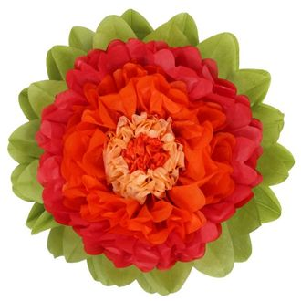 CLEARANCE Tissue Paper Flower 20in Red Carrot