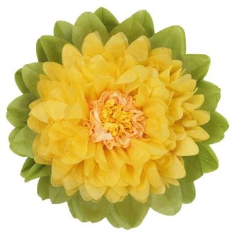 CLEARANCE Tissue Paper Flower 20in Yellow