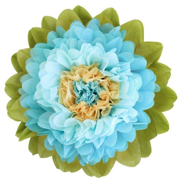CLEARANCE Tissue Paper Flower 24in Light Blue Sky