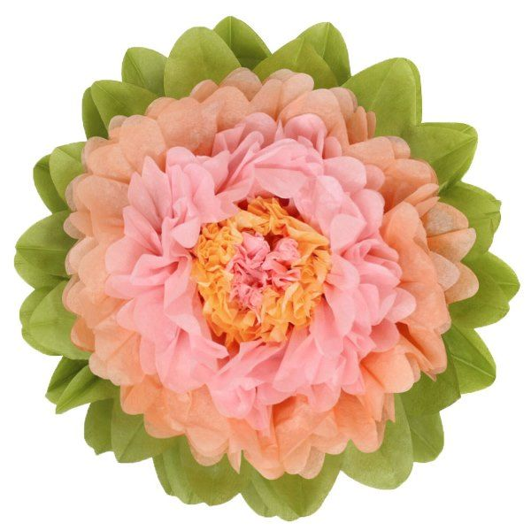 CLEARANCE Tissue Paper Flower 24in Peach Rose
