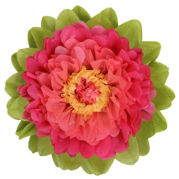 CLEARANCE Tissue Paper Flower 24in Pink Watermelon
