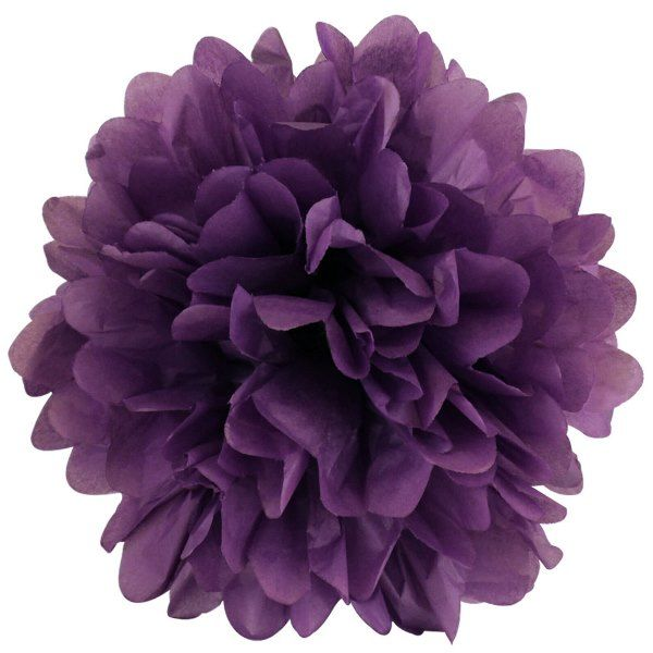 CLEARANCE Tissue Pom 15in Petunia