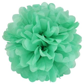 CLEARANCE Tissue Pom 15in Robins Egg