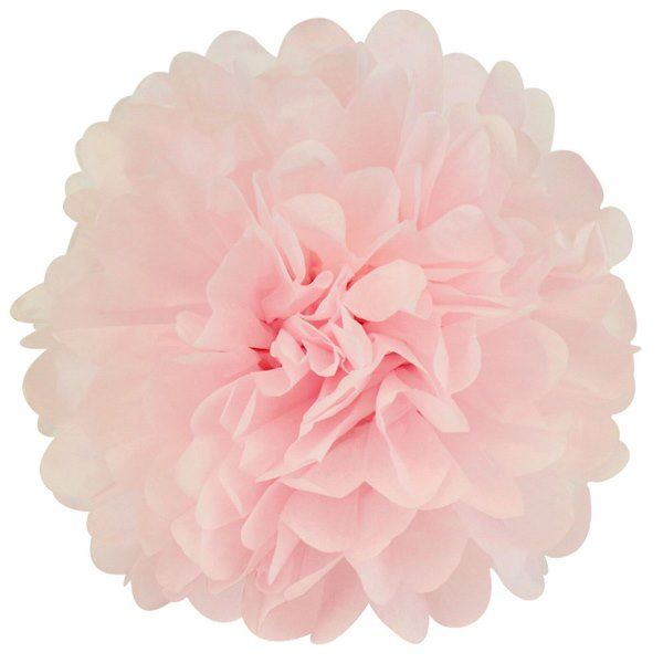 CLEARANCE Tissue Pom 15in Rose Quartz