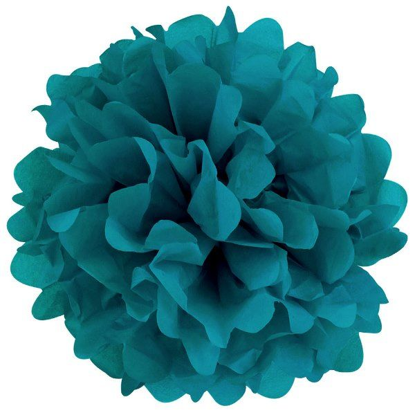 CLEARANCE Tissue Pom 20in Teal