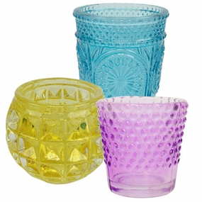 Colored Glass Votive Candle Holders
