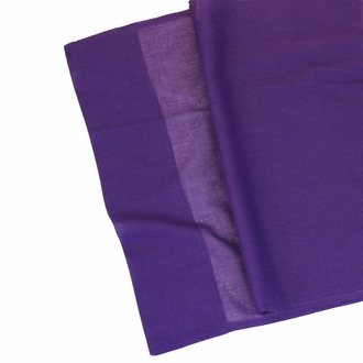 Cotton Viole Table Runner Aubergine Purple