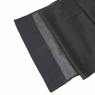 CLEARANCE Cotton Viole Table Runner Black Tie