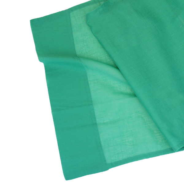 Cotton Viole Table Runner Emerald Green