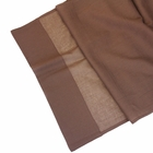 Cotton Viole Table Runner Espresso Brown