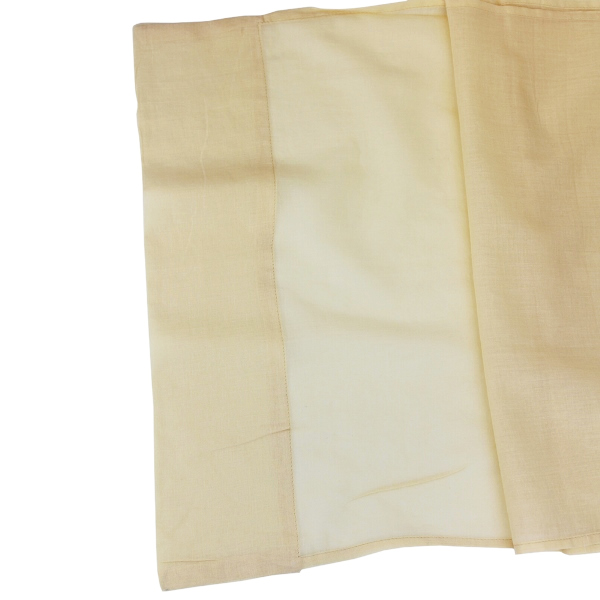 CLEARANCE Cotton Viole Table Runner Ivory
