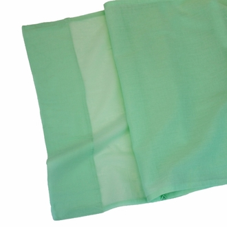 Cotton Viole Table Runner Spa Green