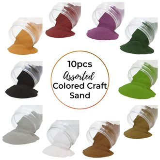 Craft and Terrarium Decorative Assorted Colored Sand (10lbs, Nature) - Premier