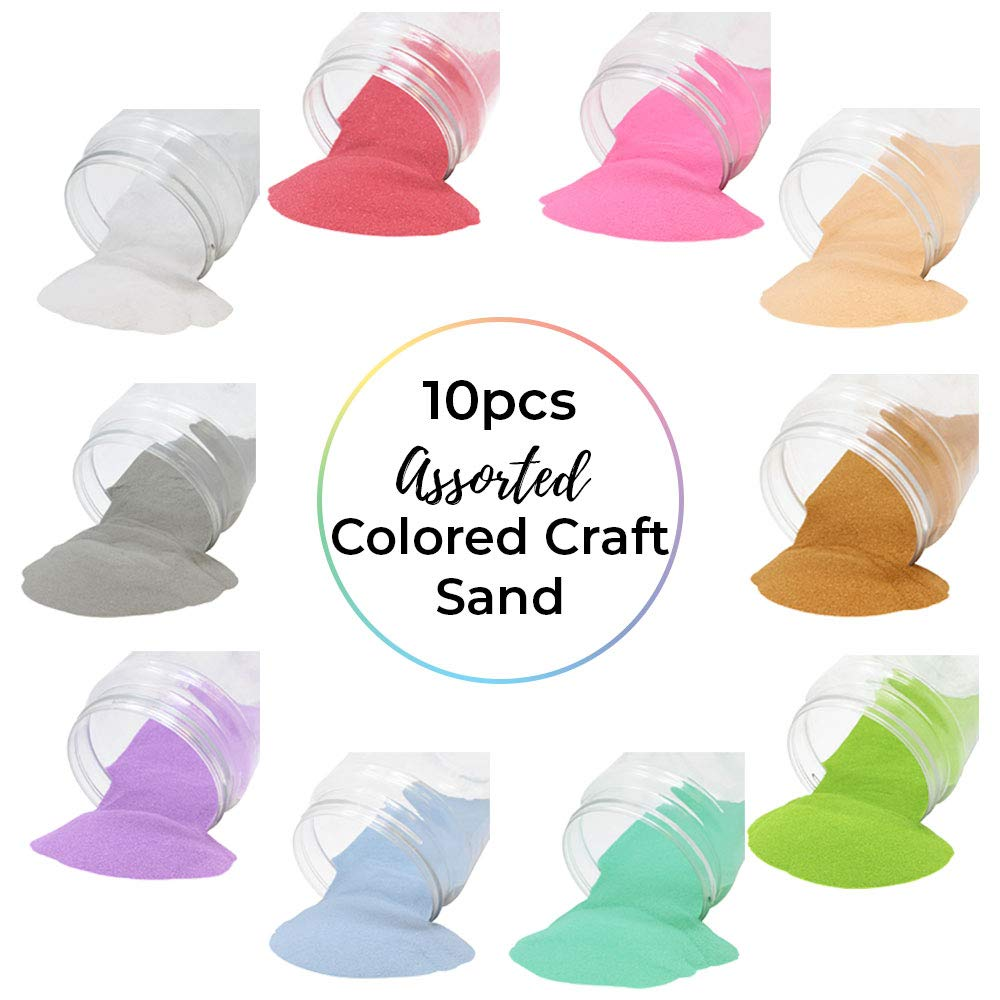 Craft and Terrarium Decorative Assorted Colored Sand (10lbs, Pastels) - Premier