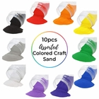 Craft and Terrarium Decorative Assorted Colored Sand (10lbs, Rainbow) - Premier