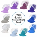 Craft and Terrarium Decorative Assorted Colored Sand (10lbs, Shades of Blue) - Premier
