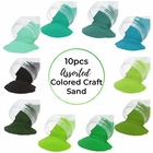 Craft and Terrarium Decorative Assorted Colored Sand (10lbs, Shades of Green) - Premier