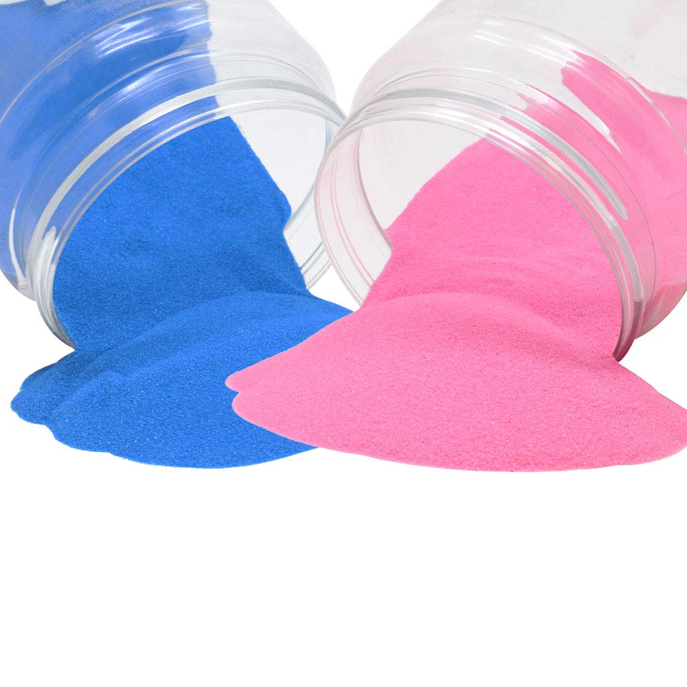 Craft and Terrarium Decorative Assorted Colored Sand (2lb, Baby Pink & Powder Blue) - Premier