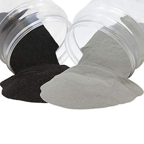 Craft and Terrarium Decorative Assorted Colored Sand (2lb, Stonegrey & Black) - Premier
