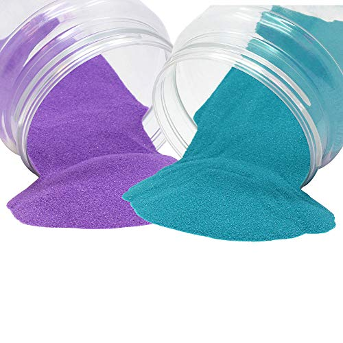 Craft and Terrarium Decorative Assorted Colored Sand (2lb, Teal & Lavender) - Premier