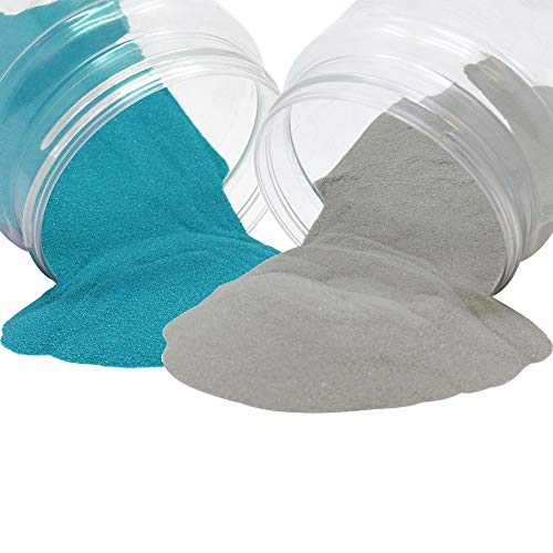 Craft and Terrarium Decorative Assorted Colored Sand (2lb, Teal & Stonegray) - Premier