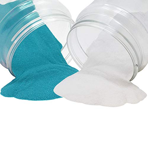 Craft and Terrarium Decorative Assorted Colored Sand (2lb, White & Teal) - Premier