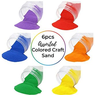 Craft and Terrarium Decorative Assorted Colored Sand (6lb, Rainbow) - Premier
