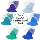 Craft and Terrarium Decorative Assorted Colored Sand (6lb, Shades of Blue) - Premier
